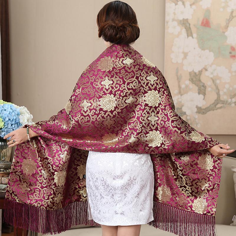 南京云锦刺绣披肩中国风礼品特色礼物送老外的出国礼品中国风围巾