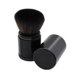 便携伸缩散粉刷大号带盖腮红粉刷蜜粉定妆粉饼软毛化妆刷子工具