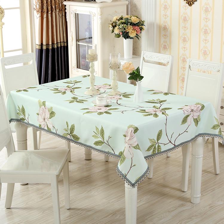 桌布布藝田園小清新家用客廳素色長方形正方形碎花茶几餐桌布
