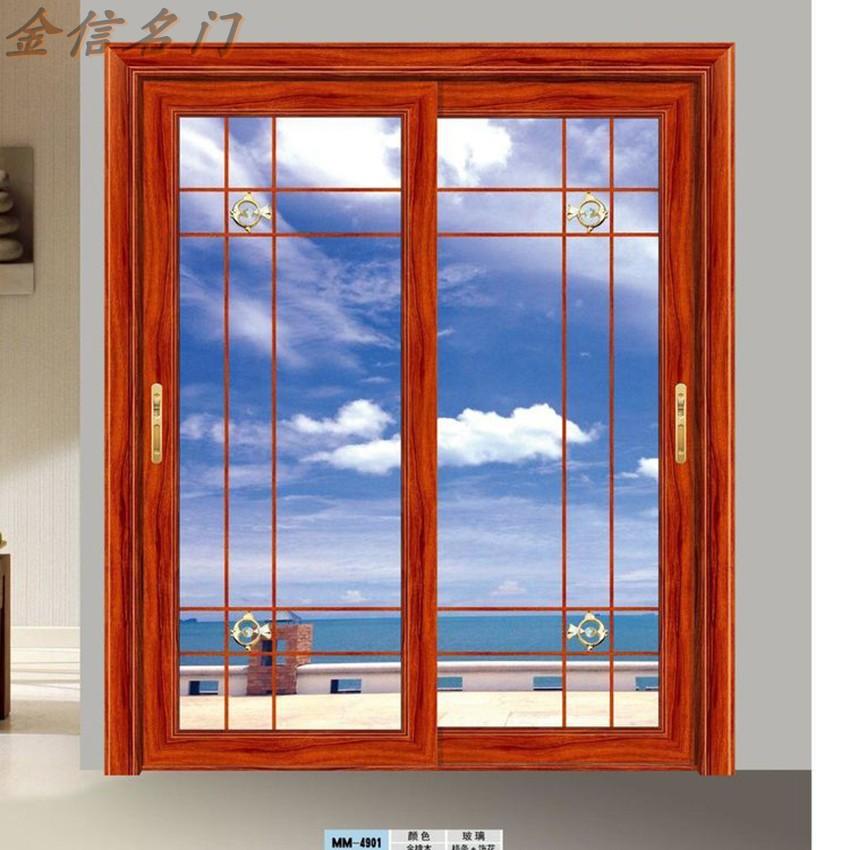 阳台重型推拉门双层钢化玻璃厨房移门卫生间卧室隔断门吊趟门定做