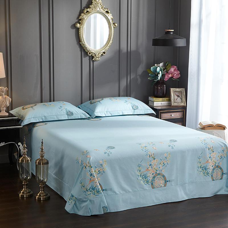 4 床單床笠床上用品 13372 全棉中式床上四件套純棉網紅款大版花 100