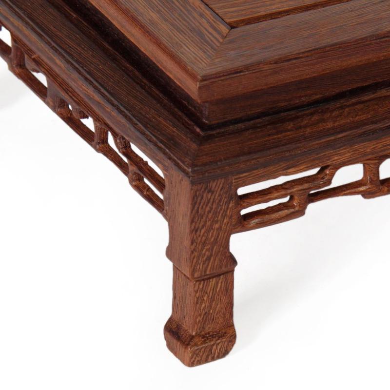 鸡翅木正方形抱脚台木托 红木花瓶花盆景玉石佛像底座实木质几架