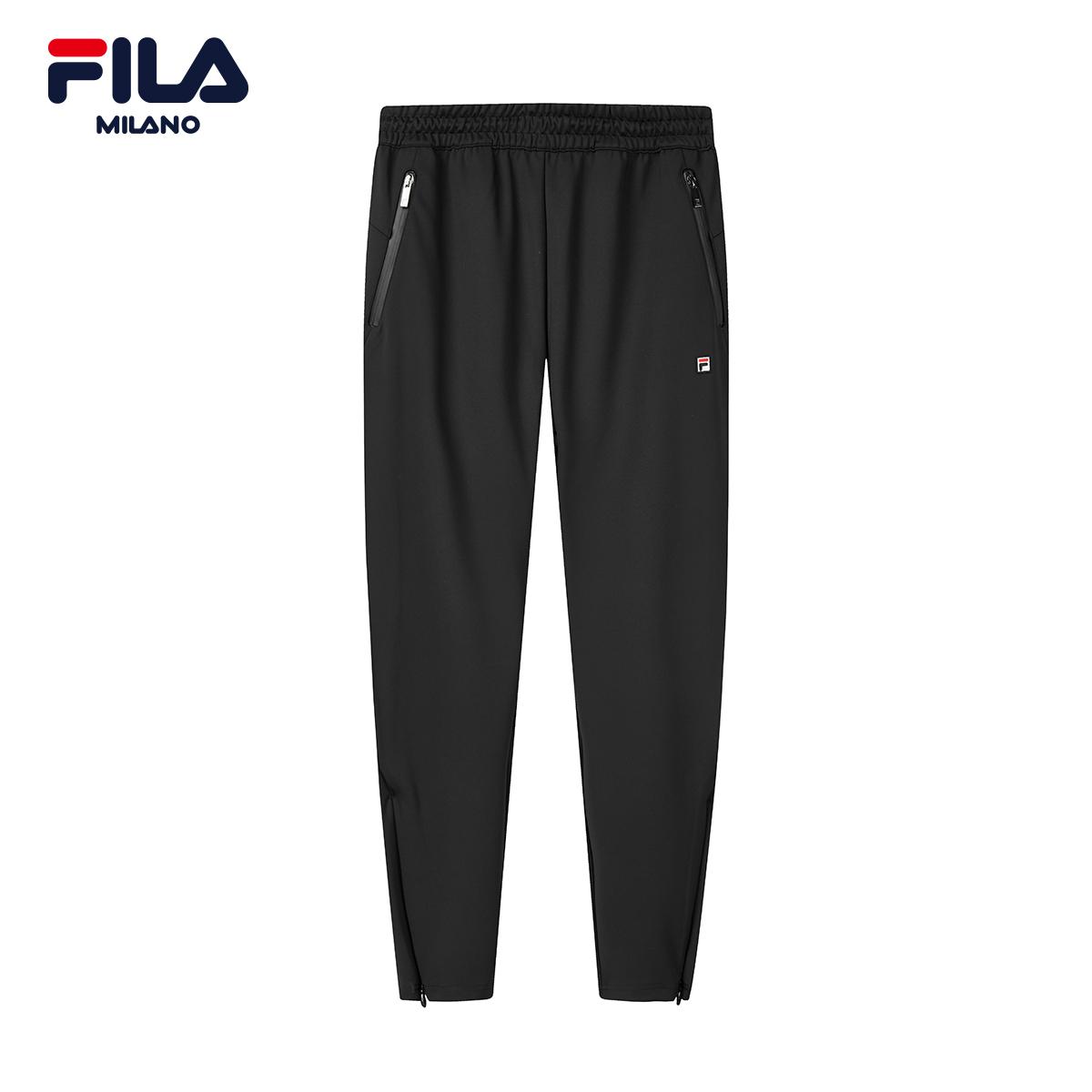 FILA斐乐米兰时装周男子针织长裤2020春新款休闲直筒运动裤长裤男