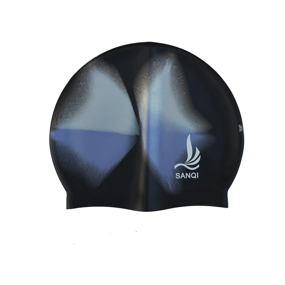 泳帽 三奇实用硅胶游泳帽 防滑防水男女通用多色