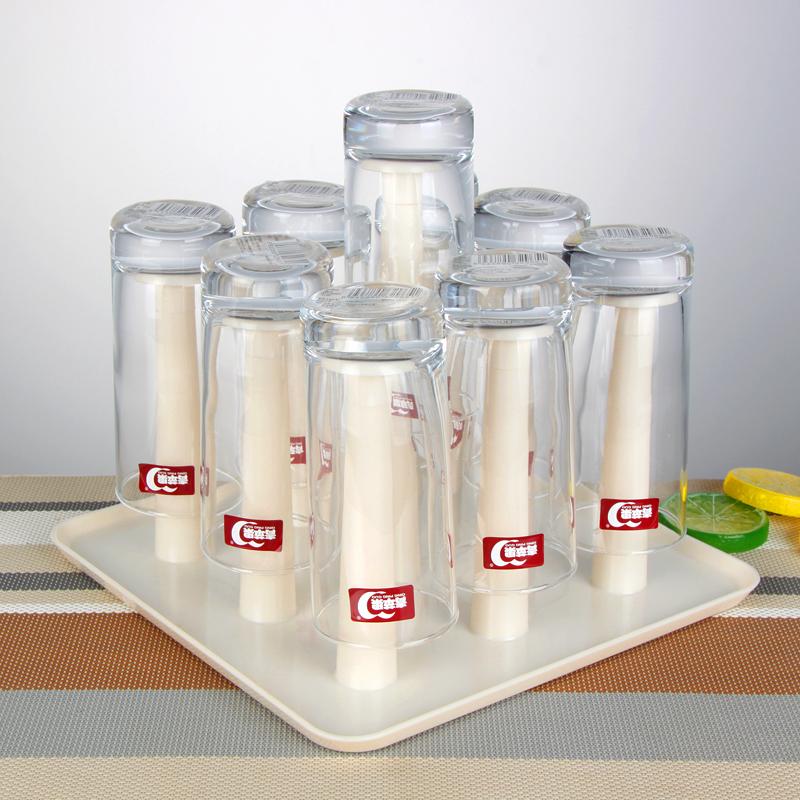 创意厨房沥水架 餐厅水杯架塑料挂架 倒置沥水盘玻璃杯子茶盘
