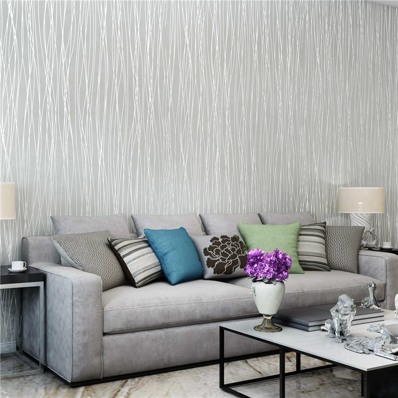 无纺布素色现代简约壁纸办公室工程酒店卧室客厅环保电视背景墙纸