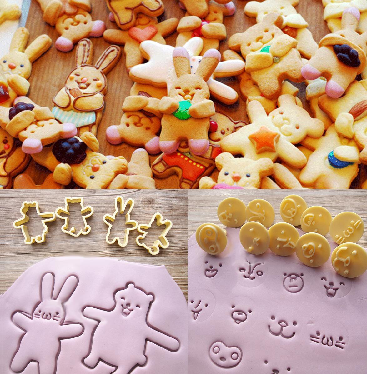 韓式卡通餅乾模4身體10表情 親子DIY  表情帝系列