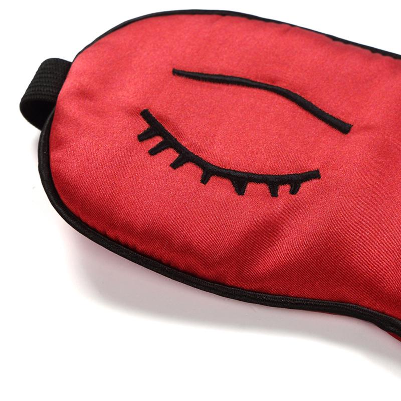 嘉丝丽真丝助眠床品配件遮光透气男女睡觉 真丝眼罩 花型随机发