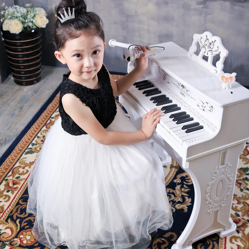 贝芬乐儿童电子琴带话筒音乐钢琴宝宝女男孩玩具2-3-4-5-6岁礼物