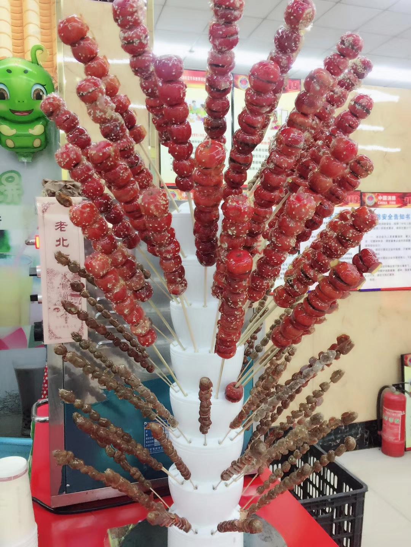 实木冰糖葫芦靶子糖葫芦柱子支架老北京 红薯塔棉花糖画架子