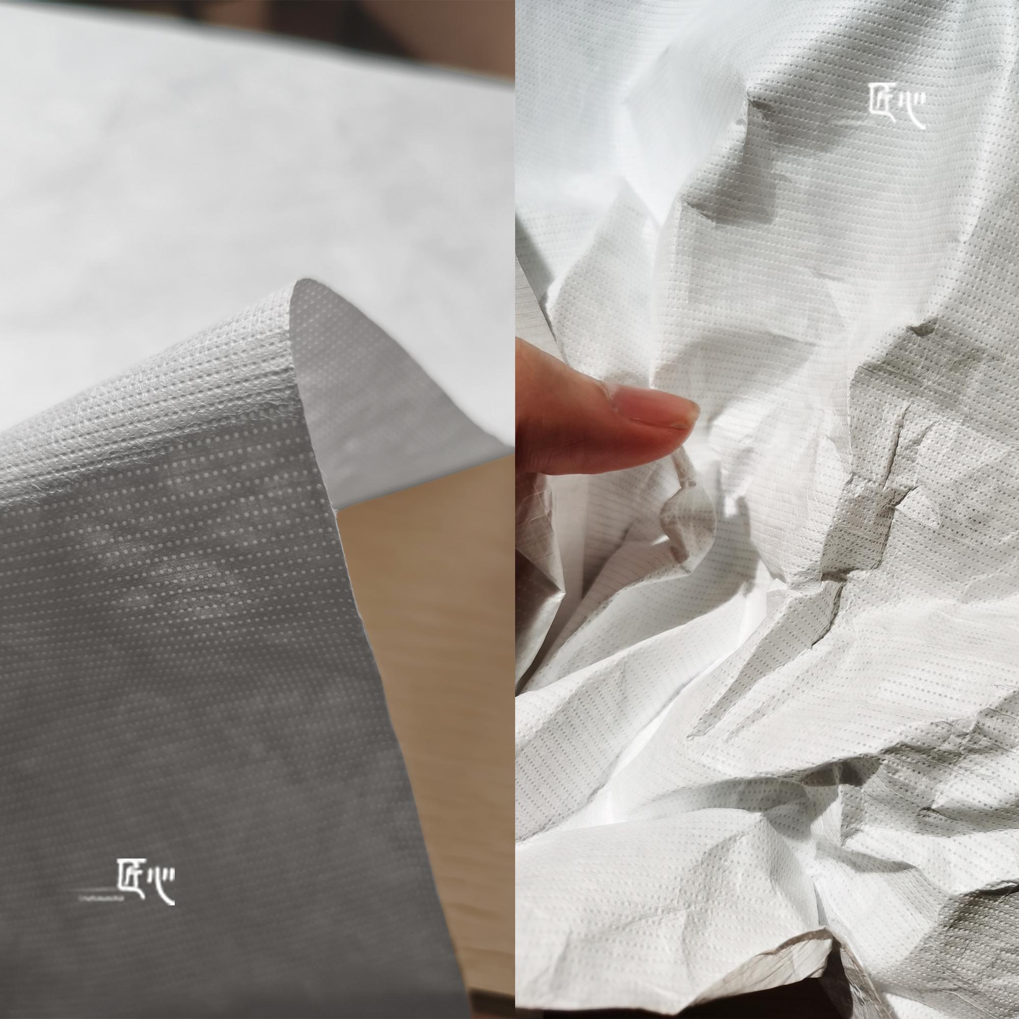 进口杜邦纸布料/Tyvek特卫强水洗呼吸纸撕不烂包包袋子设计师面料