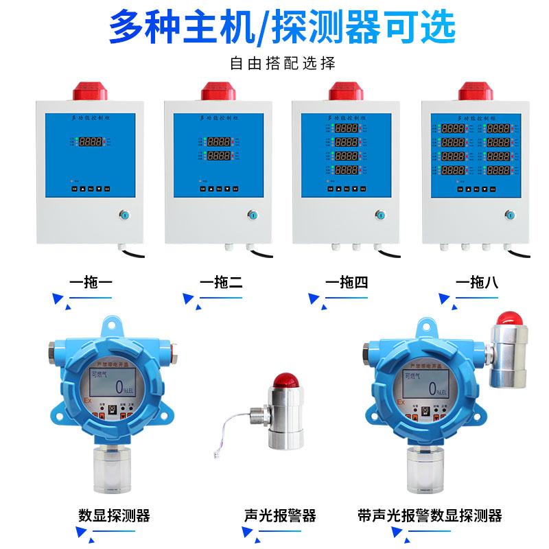 固定式喷漆房气体检测仪可燃气体报警控制器甲烷氢气天然气液化气