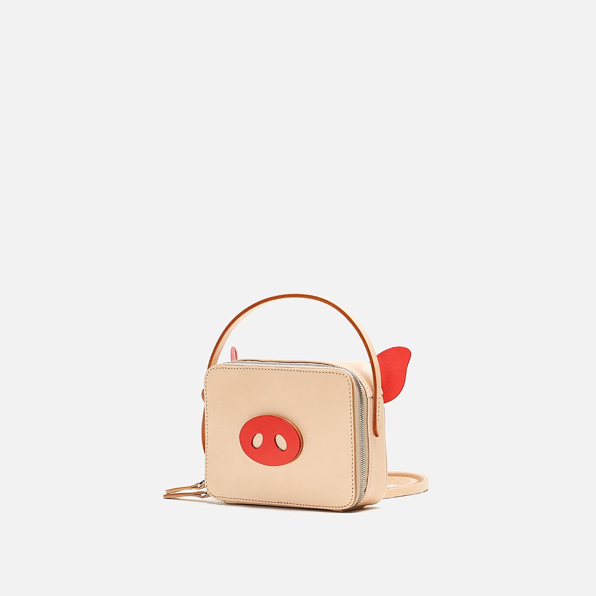 全植鞣牛皮手工包旅行小挎包便当包猪年特别定制版 FOSTYLE 菩提