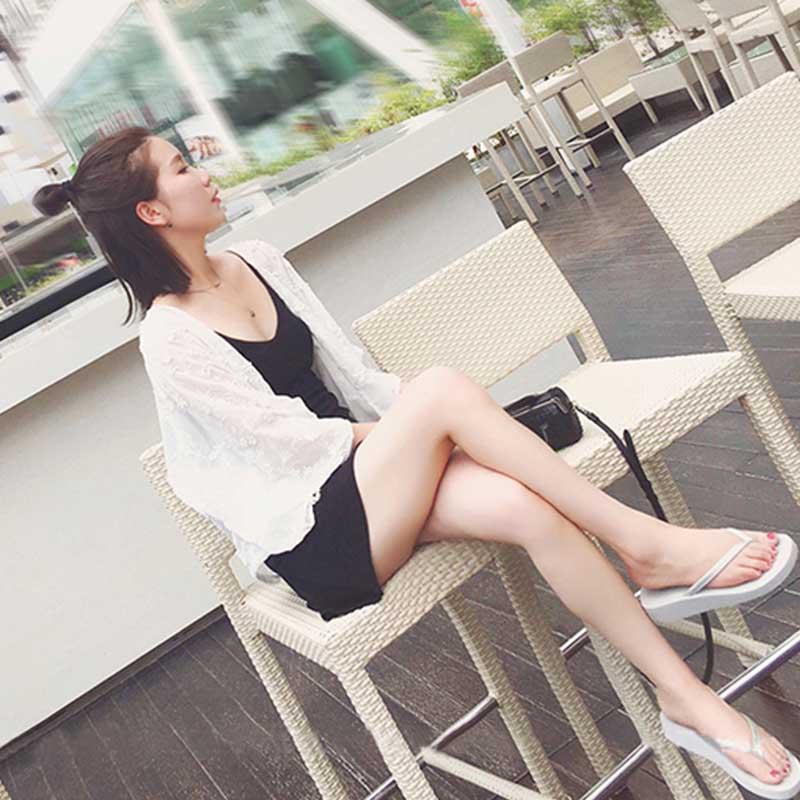 夏季披肩外套女学生韩版2018新款薄款开衫外搭短款雪纺防晒衣百搭