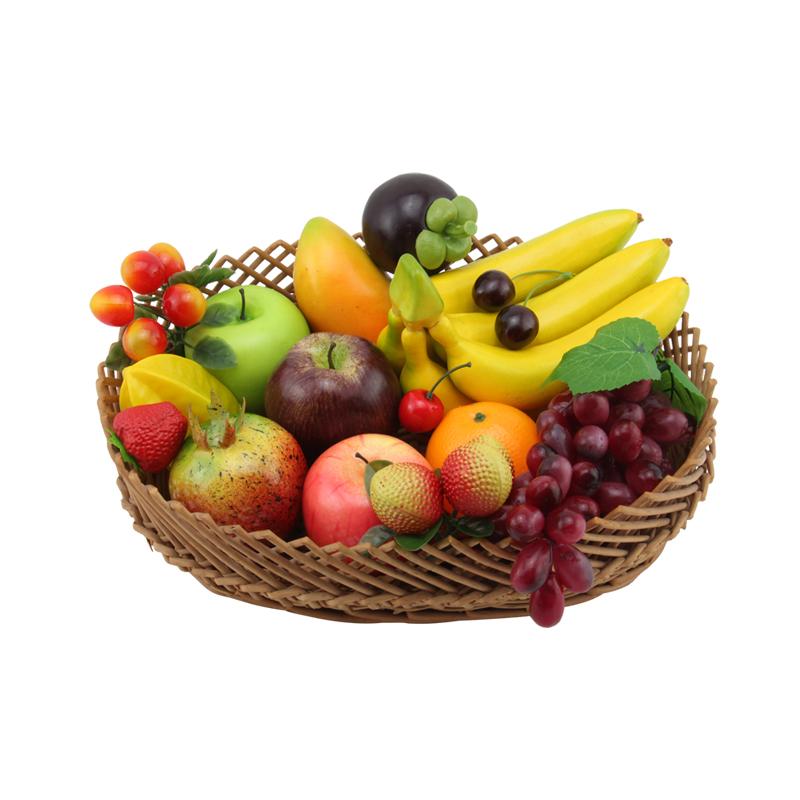 仿真水果蔬菜套装塑料假模型摆件装饰面包苹果道具玩具儿童摆设装