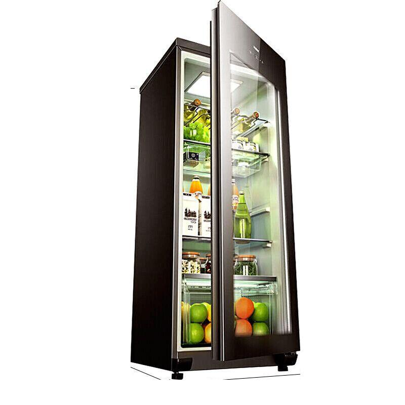 冷柜立式智能电子控温家用冰吧冷藏柜酒柜冰柜 168H LC 海尔 Haier