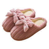 Ms. cotton slippers home thick crust lovely warm plush slippers 2019 new autumn and winter outer wear winter home
