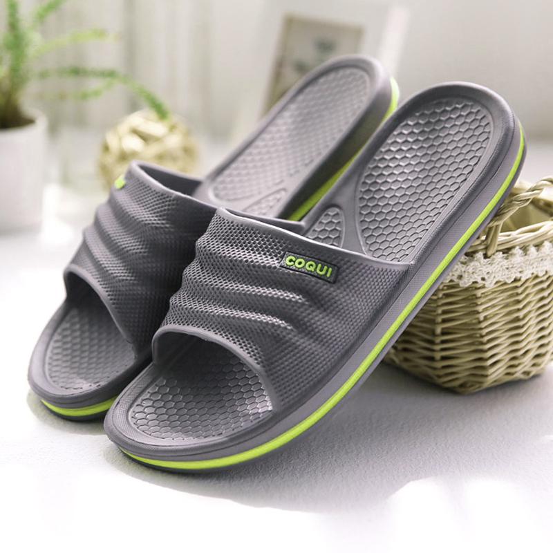 夏季家居涼拖鞋男女浴室拖鞋防滑 情侶居家用室內洗澡地板EVA拖鞋