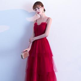 敬酒服2020结婚新款新娘酒红色孕妇订婚裙回门服晚礼服大气女显瘦