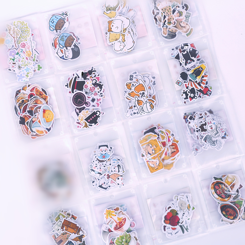 特惠~手账贴纸 LINE表情贴纸手帐工具套装猫咪森女卡通美食贴纸包