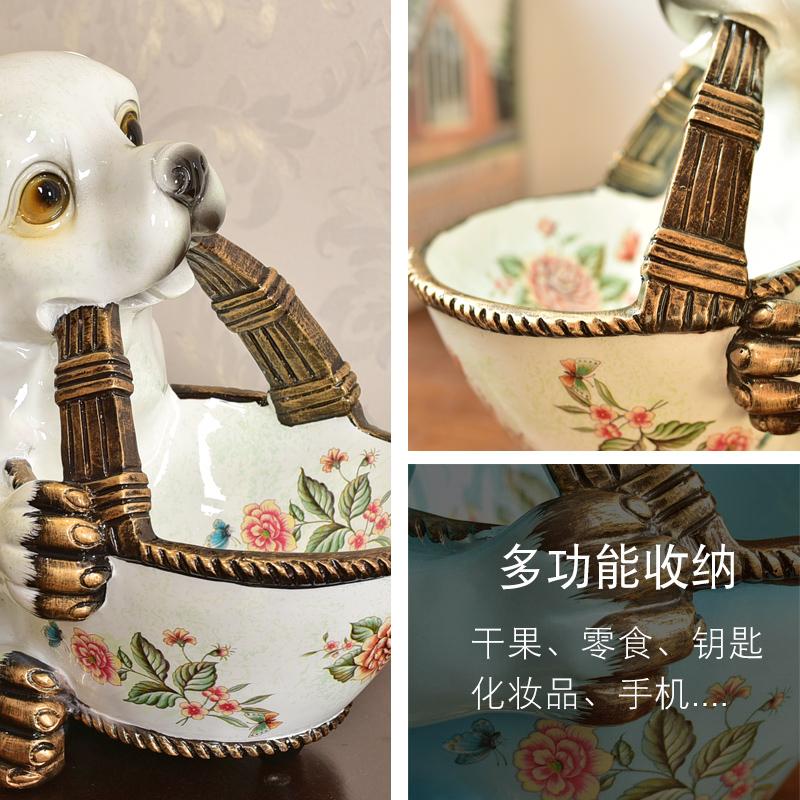 墨菲美式创意零食干果盘门口鞋柜桌面钥匙杂物首饰收纳盒装饰摆件