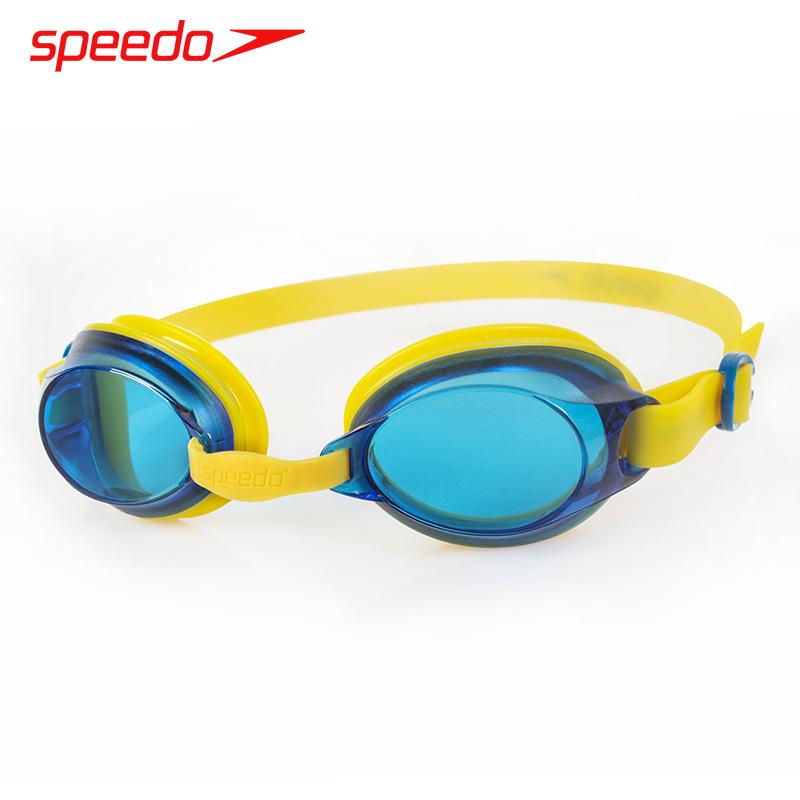新款speedo兒童泳鏡防霧防霧高清男女童青少年專業訓練游泳鏡眼鏡