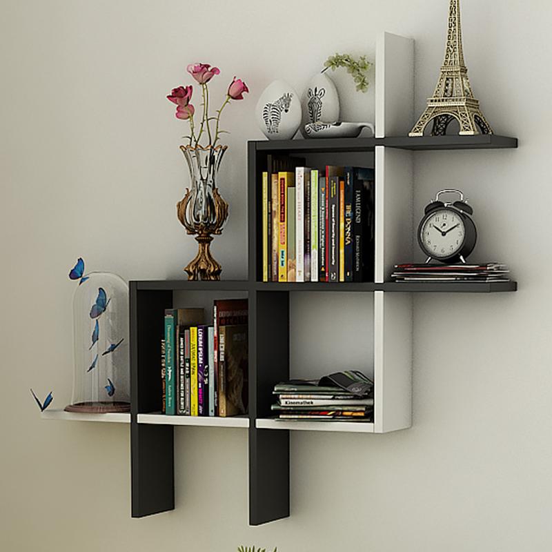 創意客廳牆上置物架書架擱板臥室牆壁掛牆裝飾架多功能隔板陳列架