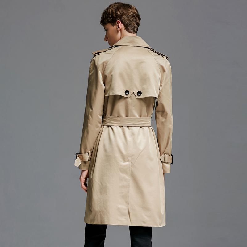 11061 春秋新款欧美纯色大衣中长宽松外套大码 2018 潮诀长袖风衣男