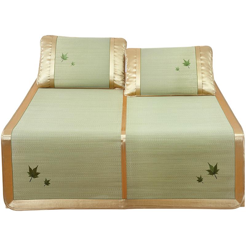 蔺草席1.8m双人床1.5米芦苇1.2单人天然兰草编凉席垫子折叠1.35夏