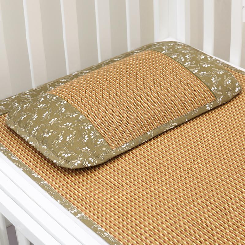 华升儿童床藤席婴儿夏季凉席幼儿园午睡竹草席子新生儿宝宝席子