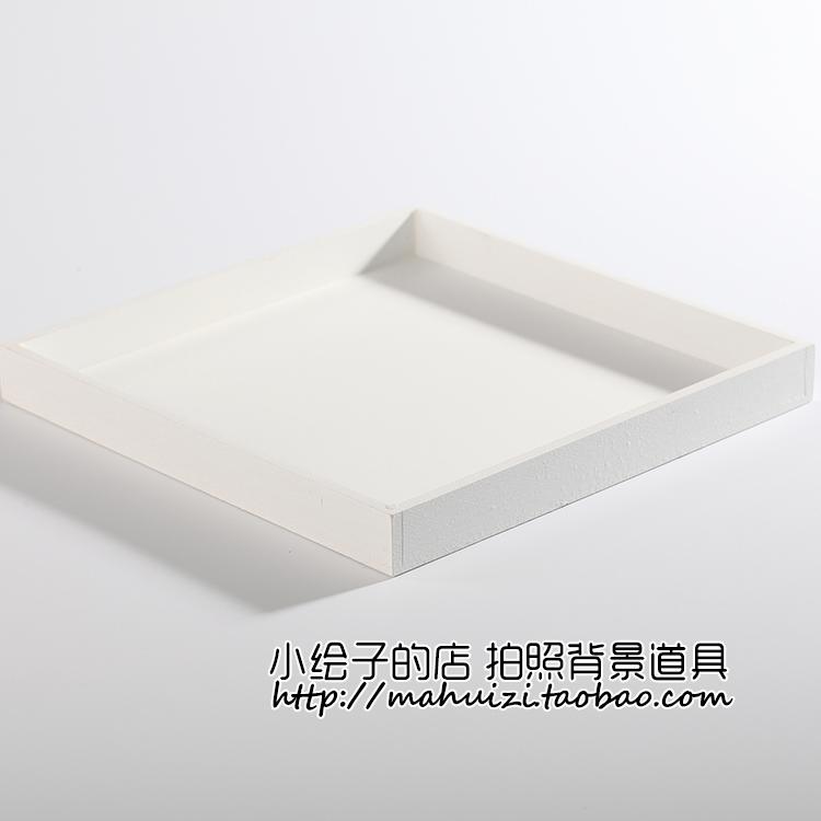 ZAKKA白色木質收納盒 飾品化妝品 網店攝影拍照背景 淘寶拍攝道具