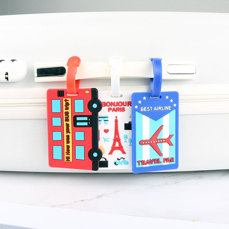 行李牌行李箱绑带旅行标签登机牌旅行箱打包带卡通挂牌吊牌托运牌