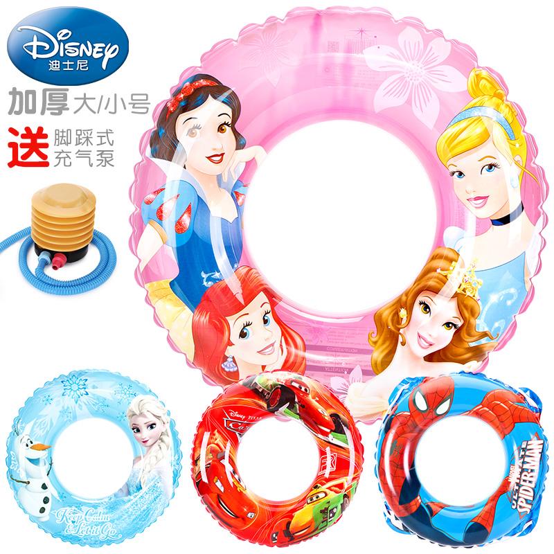 迪士尼儿童游泳圈男童女童腋下救生圈幼儿小孩趴圈小童宝宝泳圈