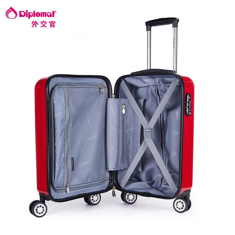 系列 TC625 英寸镜面行李箱 24 19 外交官拉杆箱 diplomat