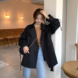 Small windbreaker women's short section 2020 spring new Korean loose mid-length coat spring and autumn coat women
