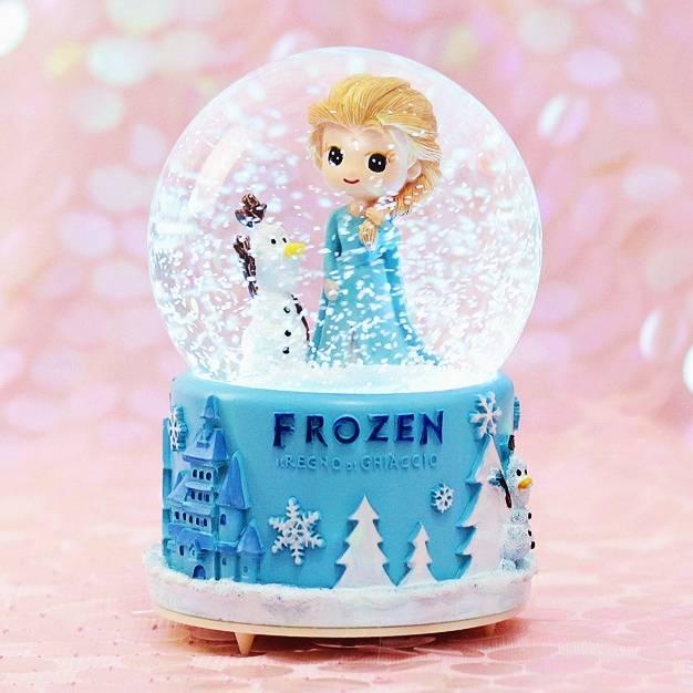 冰雪奇缘艾莎公主水晶球音乐盒摆件爱玩具儿童节女生孩子生日礼物