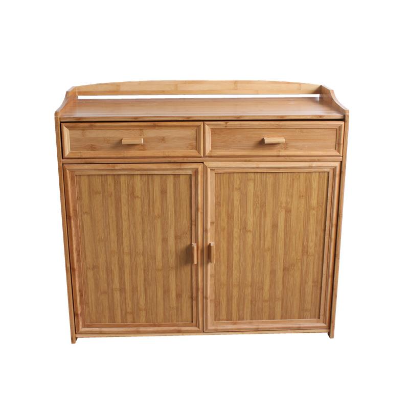 竹制茶水柜实木餐边柜厨房柜碗柜微波炉柜酒水柜置物柜阳台收纳柜