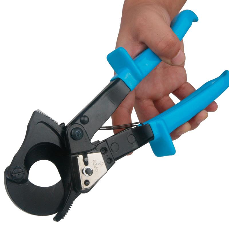 百锐电缆剪棘轮铜铝线缆剪断线钳棘轮机械式电线剪刀剪包邮
