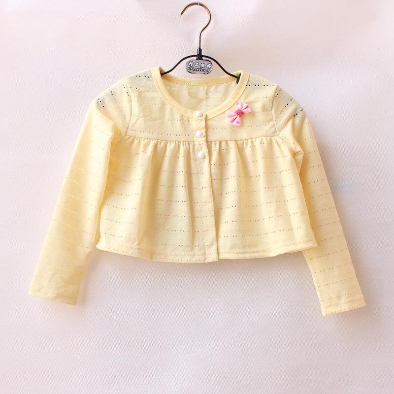 2019女童长袖披肩儿童春夏装纯棉薄款披风宝宝短款坎肩婴幼儿外套