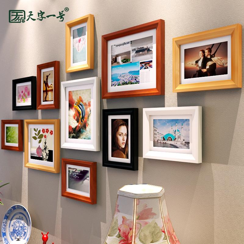 相框摆台挂墙创意6寸7七寸8 10加洗照片实木欧式A4冲印相片12相架