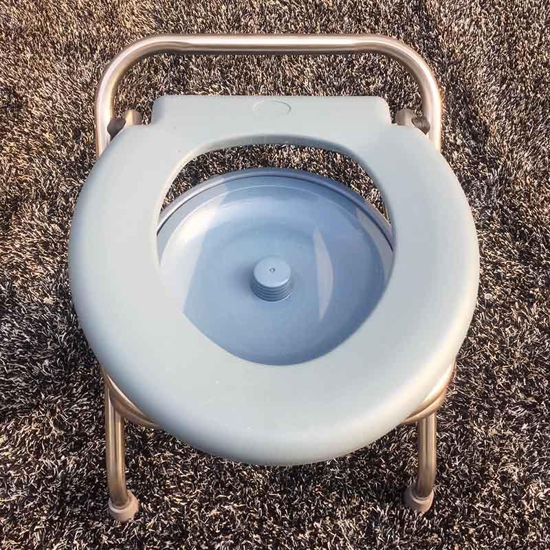 不锈钢折叠坐便椅坐便器老人孕妇家用坐便凳移动马桶病人洗澡方便