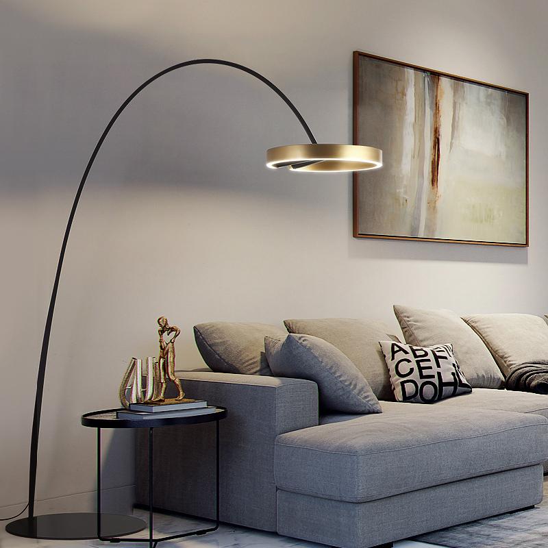 设计师现代简约大气艺术轻奢书房极简灯北欧客厅沙发钓鱼灯落地灯