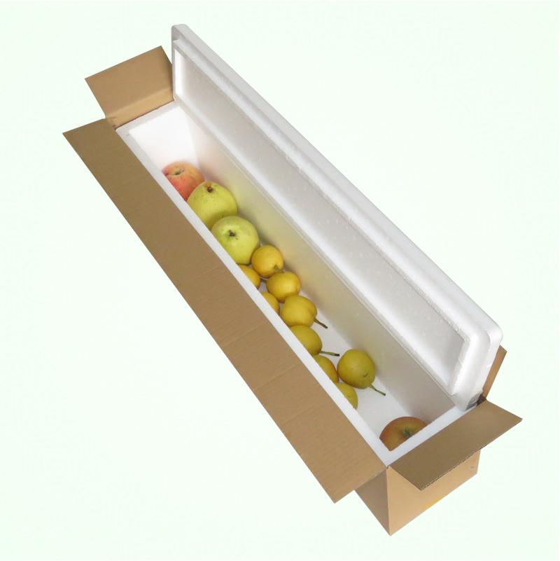 鲟鱼羊腿活鱼长条泡沫箱快递带鱼泡沫包装箱子韭黄鲜花方形保温箱
