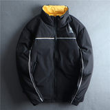 Free shipping Value benefits! 90 white duck down men's down jacket short loose stand-up collar down warm jacket tide 03