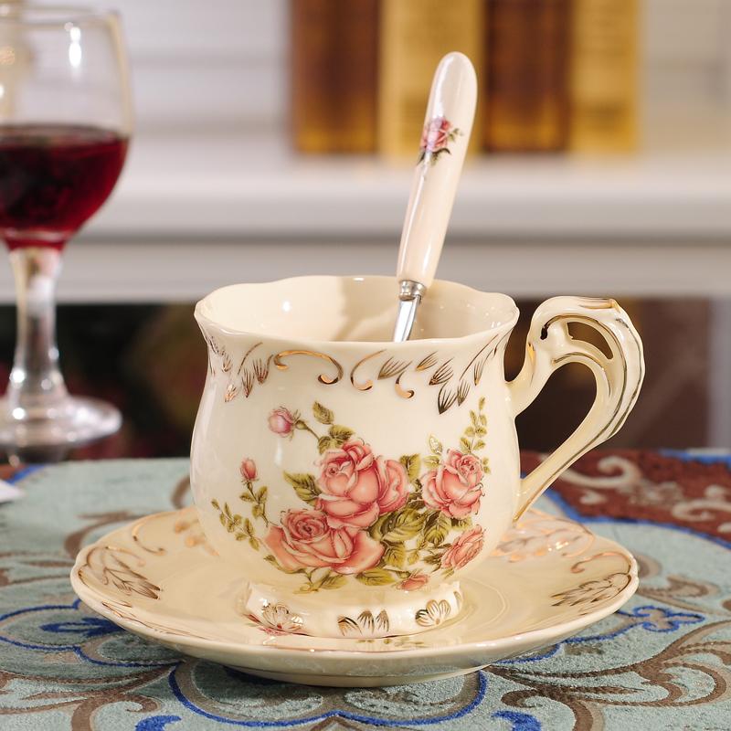 歐式陶瓷咖啡杯具套裝英式下午花茶家用小奢華優雅個性高檔結婚