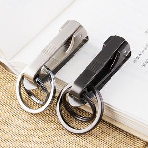 金属男士腰挂钥匙扣穿腰带皮带创意汽车钥匙链挂件钥匙圈环锁匙扣
