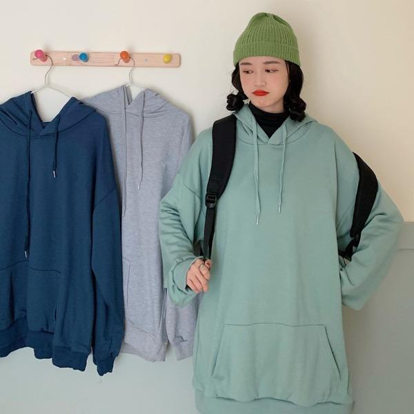 薄款纯色连帽卫衣女2020年秋冬新款时尚休闲百搭学生宽松长袖上衣
