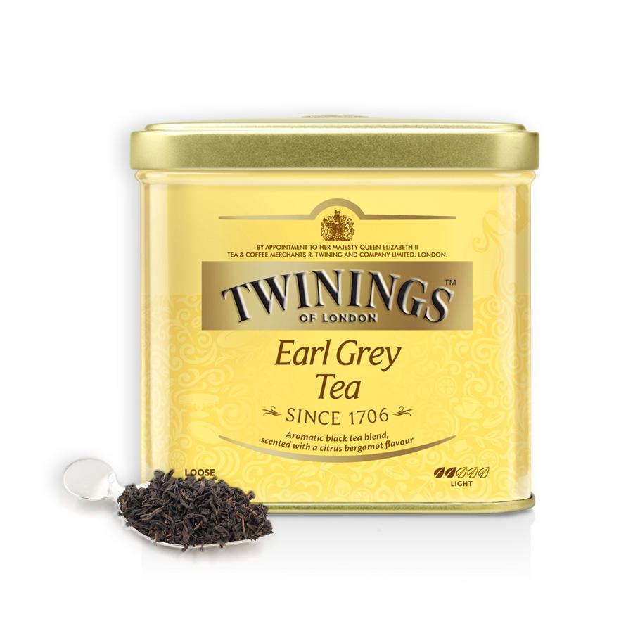 进口浓香茶叶促 散茶 罐装 100g 红茶豪门伯爵 Twinings 英国川宁