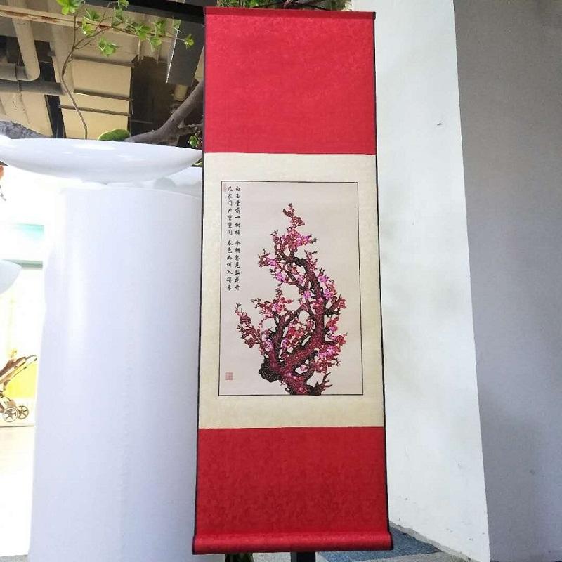 蔚县手工剪纸丝绸剪纸画挂画出国小礼物纪念品中国特色礼品送老外
