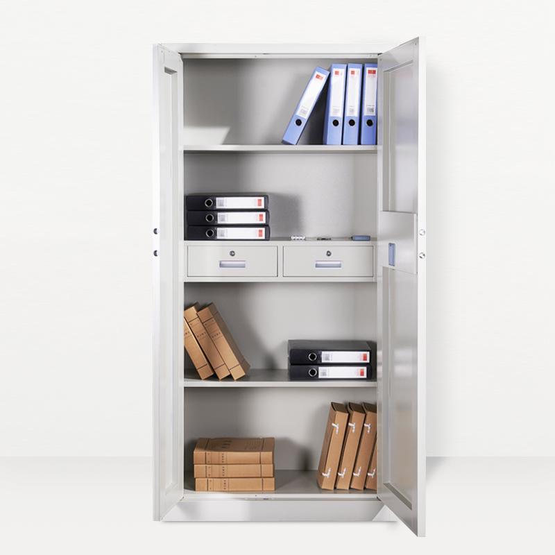 广州加厚铁皮柜钢制保密柜电子密码文件国宝锁储物柜带轮小柜子